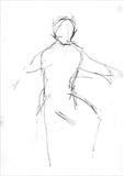 Dancer by Kevin Tole, Drawing, Chinagraph on paper