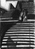 Die Frau ohne Schatten by Kevin Tole, Drawing, Charcoal on Paper