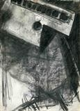 The Ship, Der Fliegende Hollander by Kevin Tole, Drawing, Charcoal on Paper