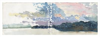Cayo Levisa Sunset by Kevin Tole, Painting, Watercolour on Paper