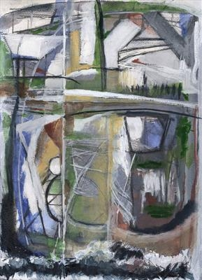 Cornish Landscape by Kevin Tole, Painting, Mixed Media on paper