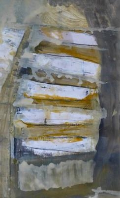 Deck and Scratch by Kevin Tole, Painting, Mixed Media on paper