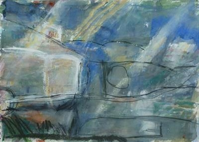 Deckplate Landscape by Kevin Tole, Painting, Watercolour, Gouache and charcoal
