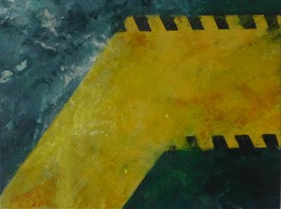 Deckplate and Path I by Kevin Tole, Painting, Oil on canvas