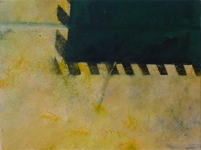 Deckplate and Path II by Kevin Tole, Painting, Oil on canvas