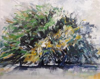 Full Beech and Oak in Summer by Kevin Tole, Painting, Oil on canvas