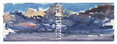 Havana Storm and Sunset by Kevin Tole, Painting, Watercolour on Paper