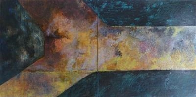 Path - Subdeck by Kevin Tole, Painting, Oil, shellac, creosote on PVA and acrylic on canvas