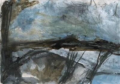 Porthmeor by Kevin Tole, Painting, Mixed Media on paper