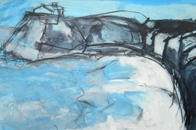 Porthmeor Winter by Kevin Tole, Painting, Mixed Media on paper