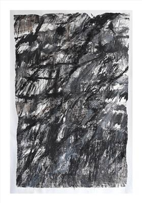 Rockface II by Kevin Tole, Drawing, Handmade Charcoal and oil paint