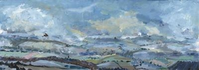 To Okehampton and beyond by Kevin Tole, Painting, Acrylic on paper