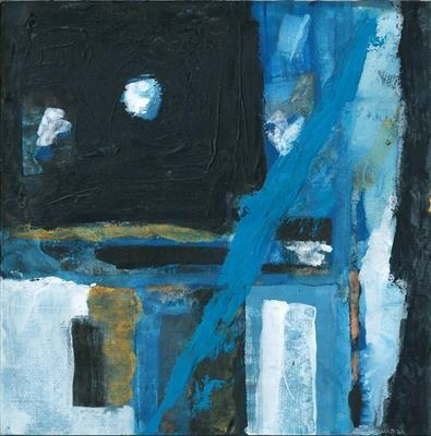 Tunis Blue by Kevin Tole, Painting, Mixed Media on paper